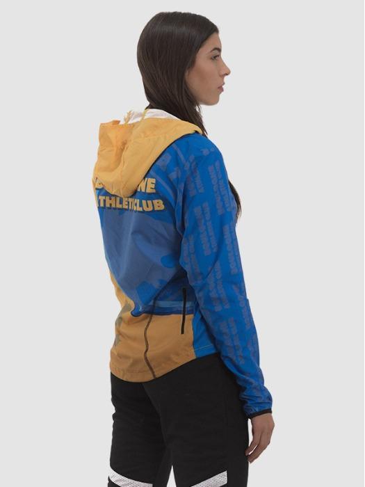 Triathlon Tracksuit Women - 100% Polyester microfiber 118 gr hooded, custom-made.