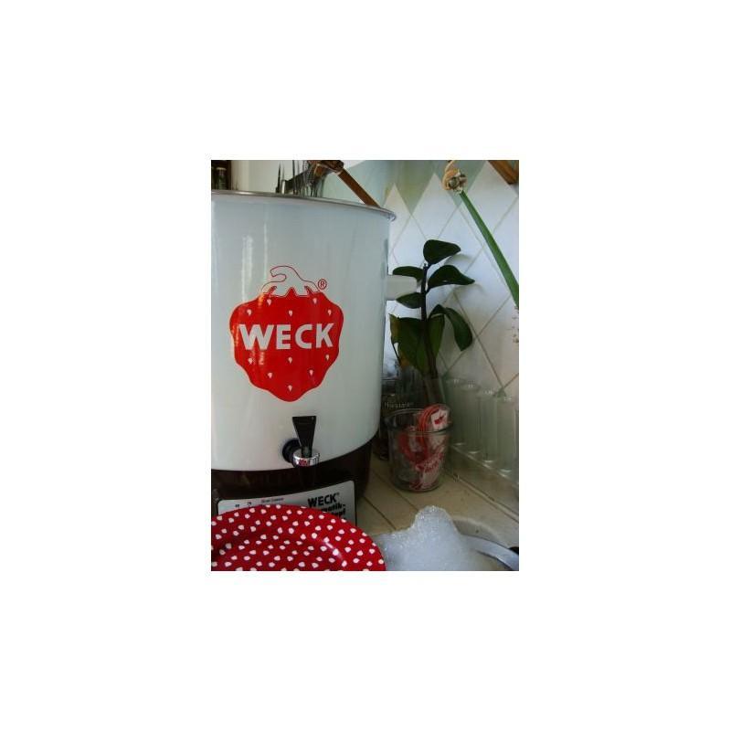 Stérilisateur et pasteurisateur domestique Weck émaillé WAT14A - Stérilisateurs Ménagers et extracteurs de jus WECK