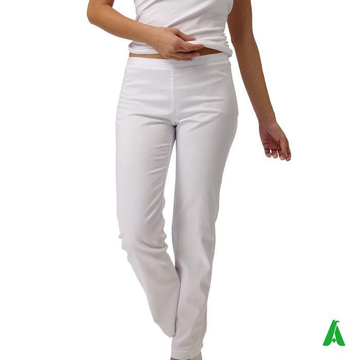 Pantalone donna 60%cotone 40%poliestere per medici e infermi - Pantalone donna medico-infermiere personalizzabile