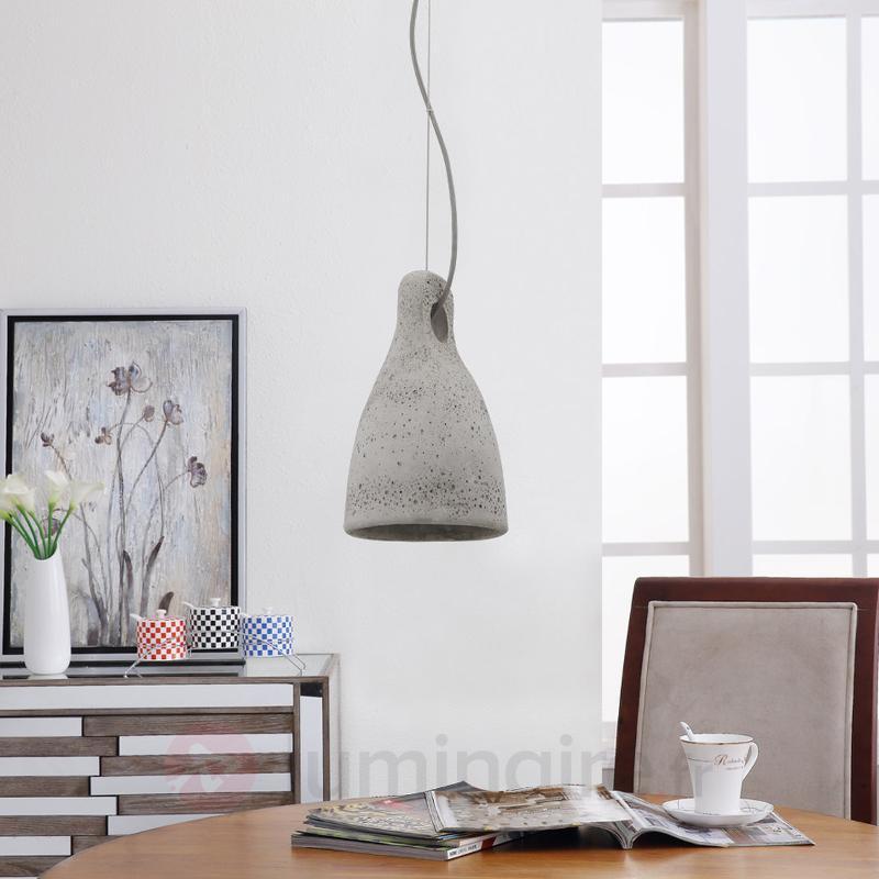Suspension en béton Lenna en gris - Cuisine et salle à manger