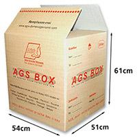 Small package shipping (only between France and French overseas T.)  - AGS Box dimensions: 50 cm X 55 cm X 60 cm