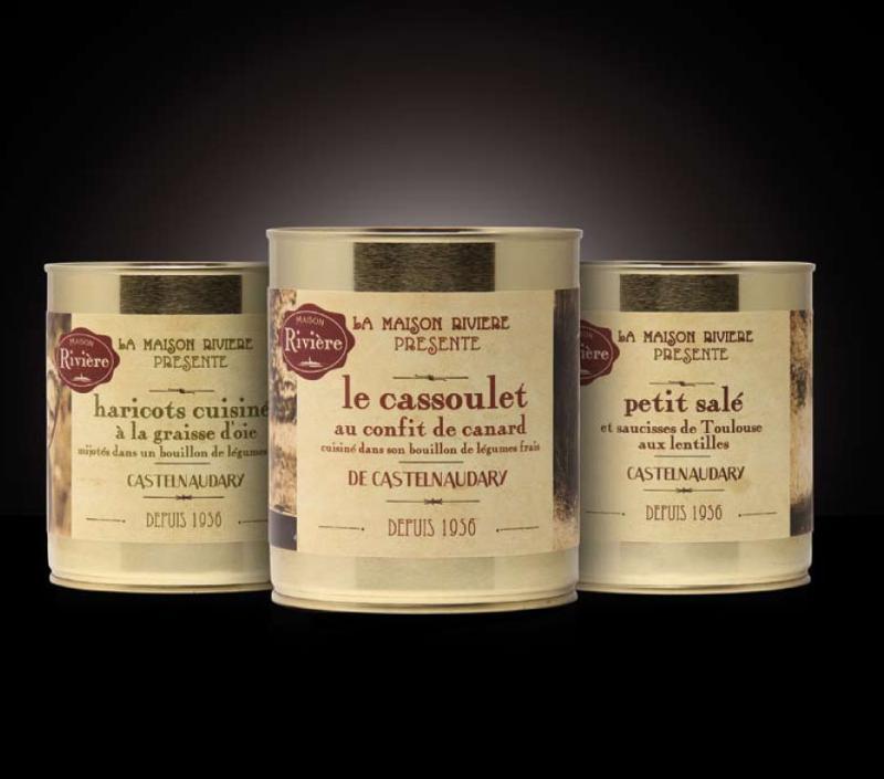 Cassoulet de Castelnaudary au porc 840G - Epicerie salée