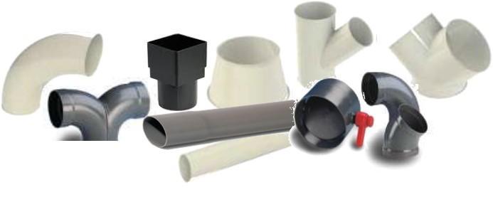 Tuyauterie et composants plastics en PVC ou PPH - Tuyauterie et composants