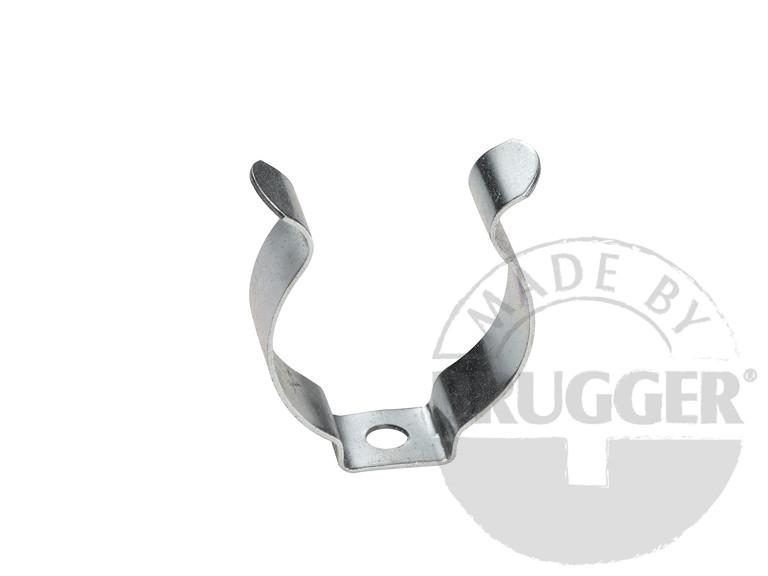 Clamp made of metal with bore, galvanized - null