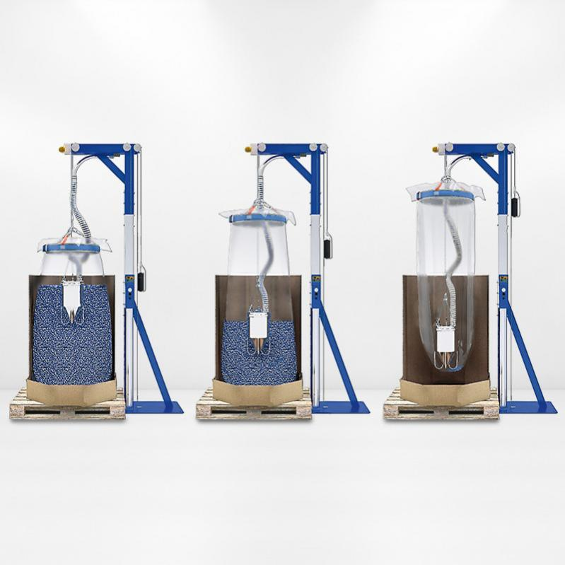 Discharge station for Big Bag and Octabin - Discharge station for Octabin and Big Bag with automatic complete emptying