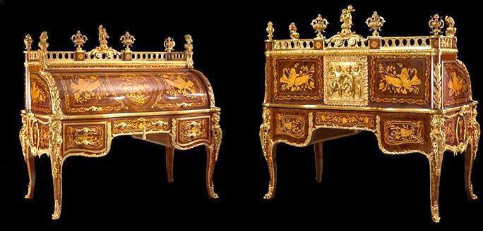 Jean-Francois Oeben Louis XV cylinder Bureau Du Roi