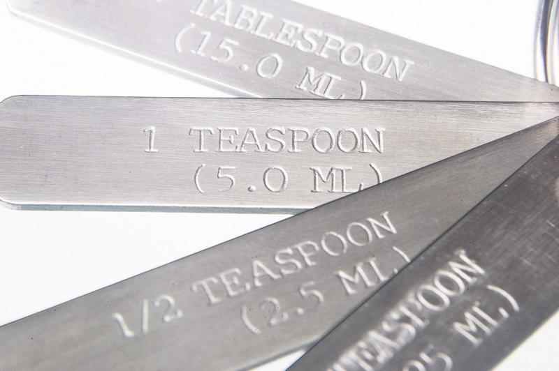 Stainless steel measuring spoons - Laboratory equipment, high-gloss finished spoon, sampler