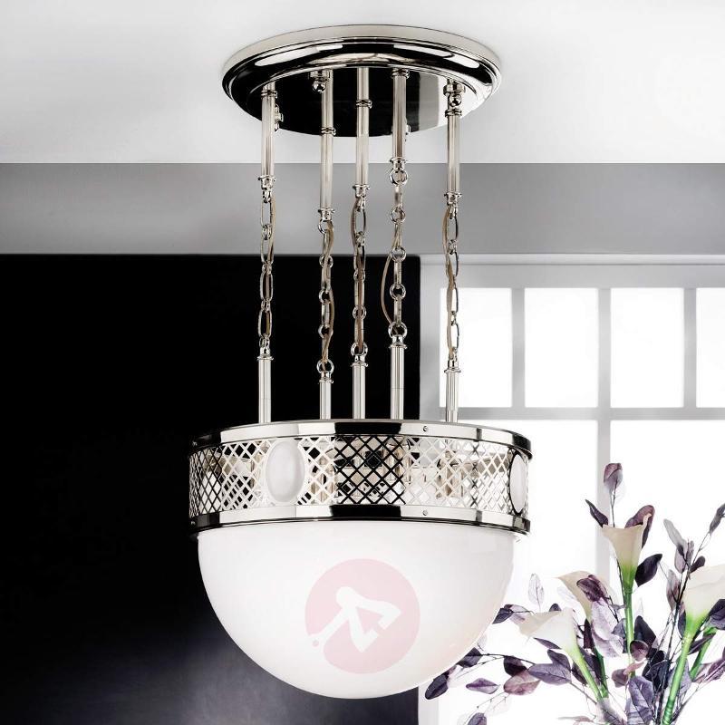 Large Old Vienna hanging light in nickel - Pendant Lighting