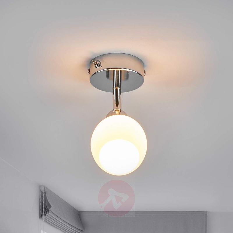 LED wall light Aidan with glass lampshade - Ceiling Lights