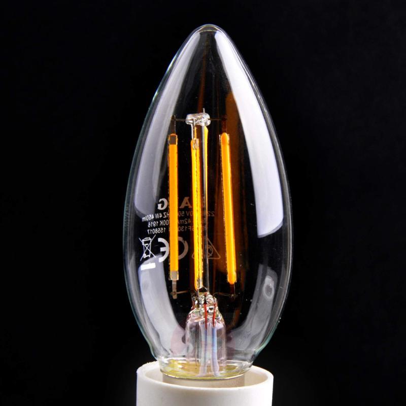 E14 4 W 827 LED filament candle bulb - light-bulbs