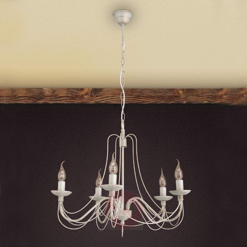 Pretty chandelier Antonina, 5-light - Chandeliers