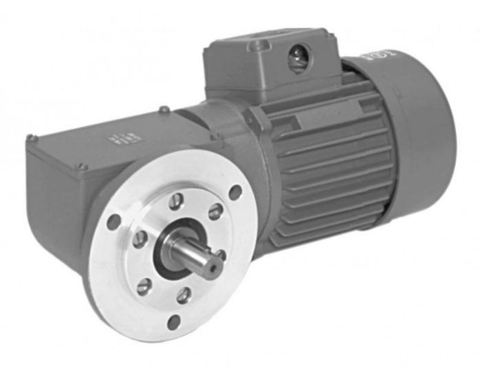 SN12F - Zweistufiger Getriebemotor mit Ausgangswelle