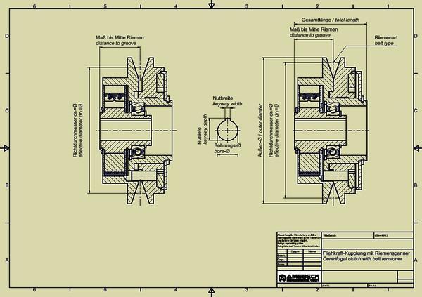 Fliehkraftkupplungen mit Riemenspanner - Fliehkraftkupplungen mit Riemenspanner