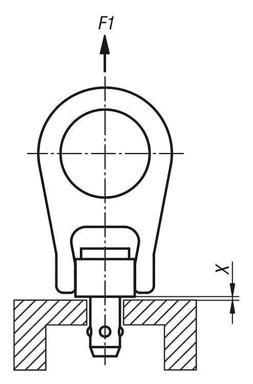 Anneau de levage à broche autobloquante, en Inox - Anneaux de levage fixes et pivotants, anneaux à broche autobloquante