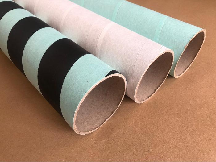 Krāsainas kartona caurules -