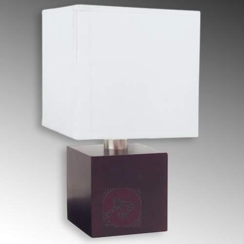 Cube-shaped table lamp ASTA, dark brown - Bedside Lamps