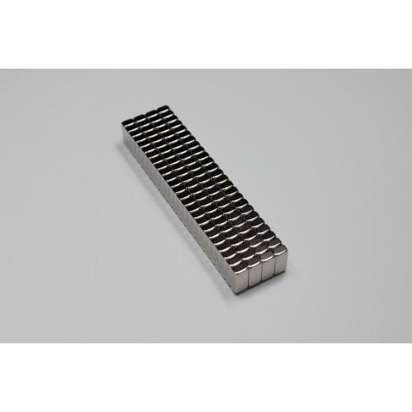Block magnet, Neodymium, 13x6x4 mm, N45, Ni-Cu-Ni,... - null