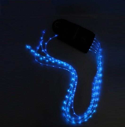120MA USB led light strips horse tail - LED Flashing Horse Harness Tail Wrap with USB charger