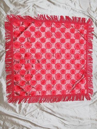 Handmade red craft tablecloth - K17767
