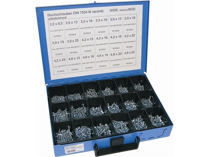Sortiment Koffer & Boxen - Dresselhaus 8530 Sortiment Blechschraube selbstbohrend, verz
