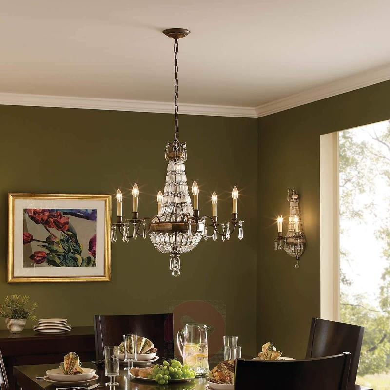 Bellini - Chandelier with Antique Effect - Chandeliers