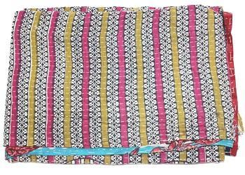India Cotton Handmade  Vintage Kantha Quilt