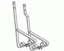 """Snow Guards - Support Bracket for 2 pipes 1"""""""