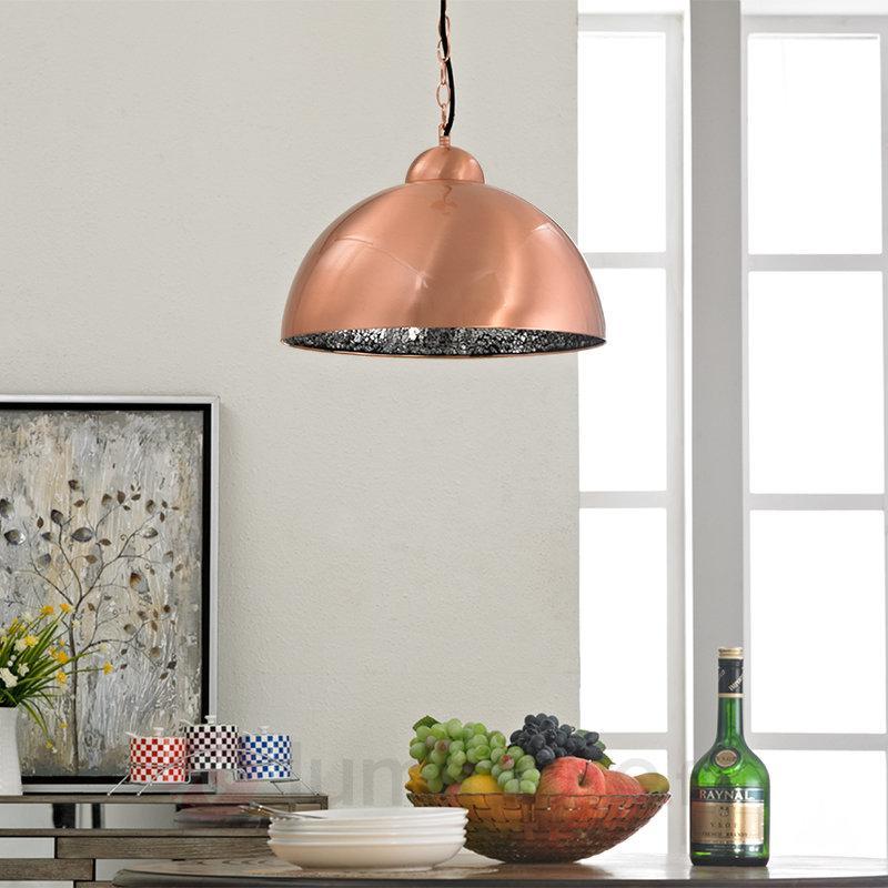 Suspension couleur cuivre LED Felippa - Suspensions LED