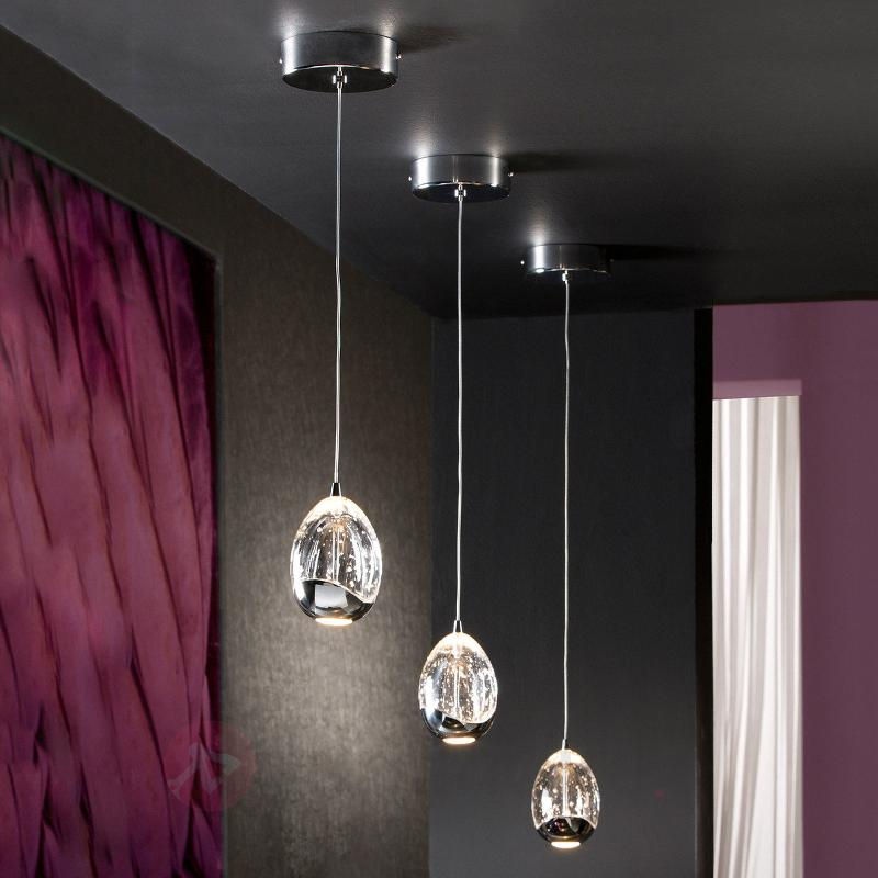 Rocio - suspension LED 1 lampe, chromée - Suspensions LED