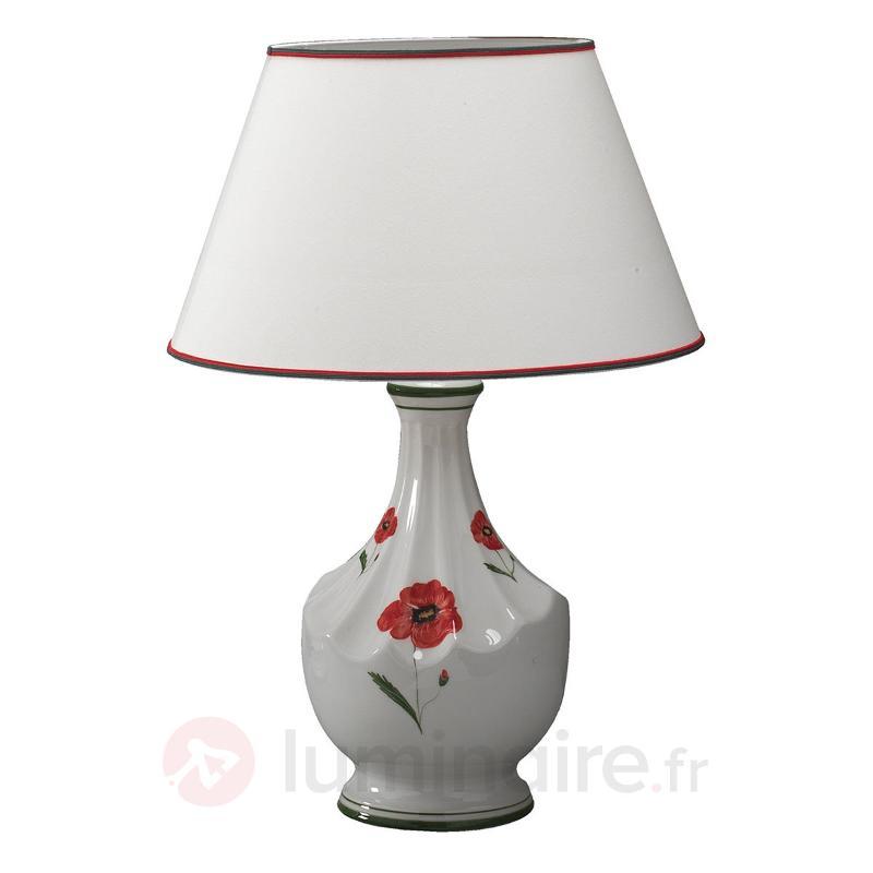 Lampe à poser Papaveri style maison de campagne - Lampes à poser en tissu