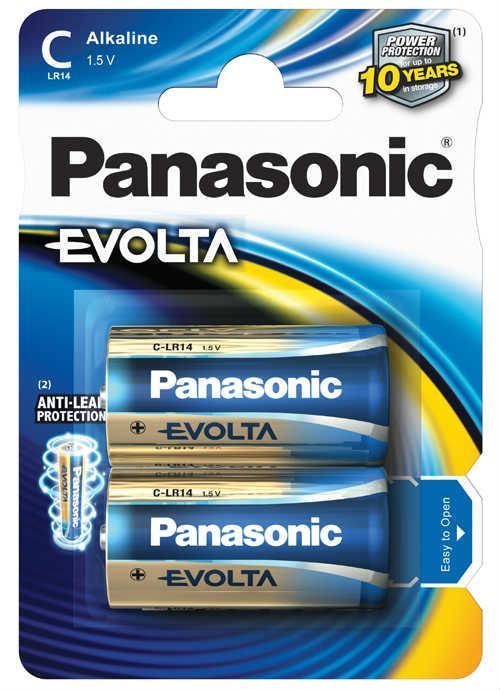 Batterie mezza torcia Evolta 2 pz - LR14EGE/2BP   Blister da 2 pile C Panasonic