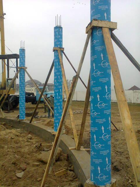 Cardboard formwork for columns  - Cardboard formwork for columns of inner diameters from 100mm to 600mm