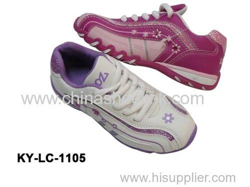 lady Pink casual shoes  - with embroidery flower