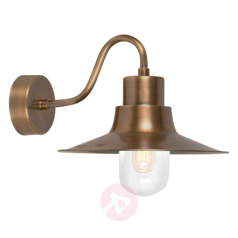 Brass outdoor wall lamp Sheldon - Outdoor Wall Lights