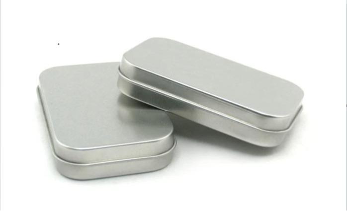 Rectangular Tin Boxes Containers - Rectangular Empty Tin Boxes Containers Small Storage tin box