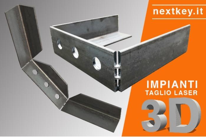 Impianti taglio laser angolari - Funzioni taglio e piega per profili angolari in acciaio