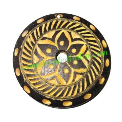 Handmade wooden fancy pendants, size : 45x7mm - Handmade wooden fancy pendants, size : 45x7mm