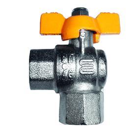 Rubinetto gas gomito FF - Tubi Gas & Articoli Gas