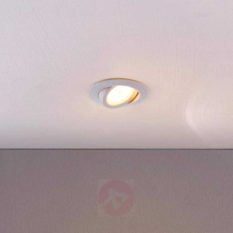 Round, white LED recessed light Andrej - indoor-lighting