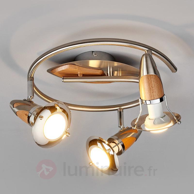 Plafonnier rond Sharleen avec ampoules LED E14 R50 - Spots et projecteurs LED