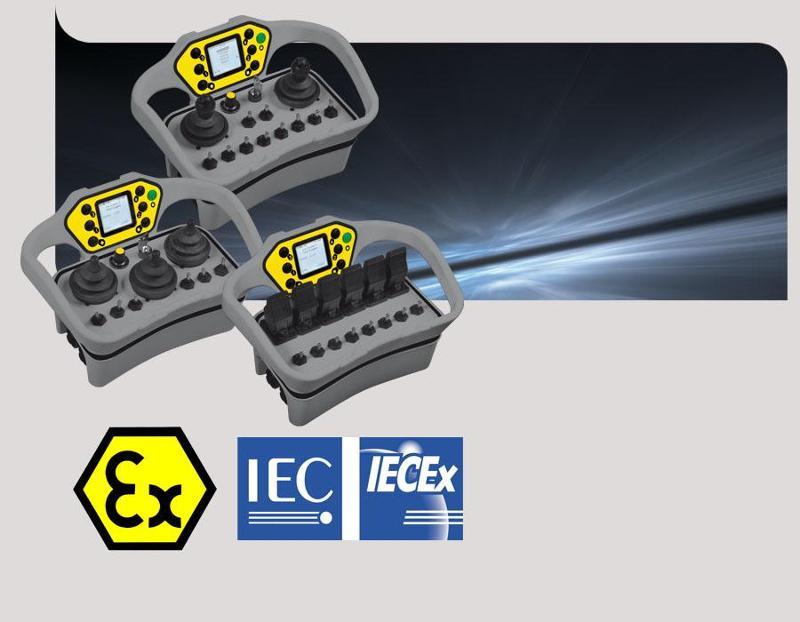 Joysticks radio remote control ATEX IECEx - Moka