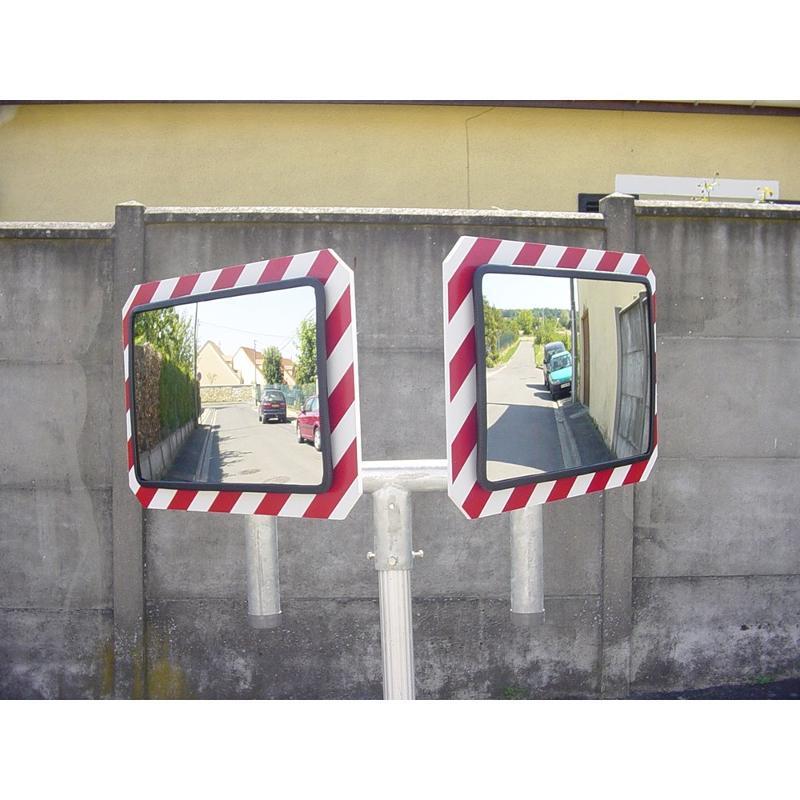 Fourche pour la pose de deux miroirs sur un poteau de... - Mobilier urbain