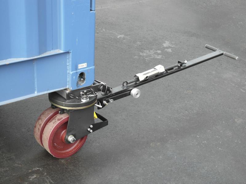 Rotelle per carichi pesanti 4336 16 t - Contenitore rotoli 4336 - 16 t, spostare il contenitore su terreno asfaltato