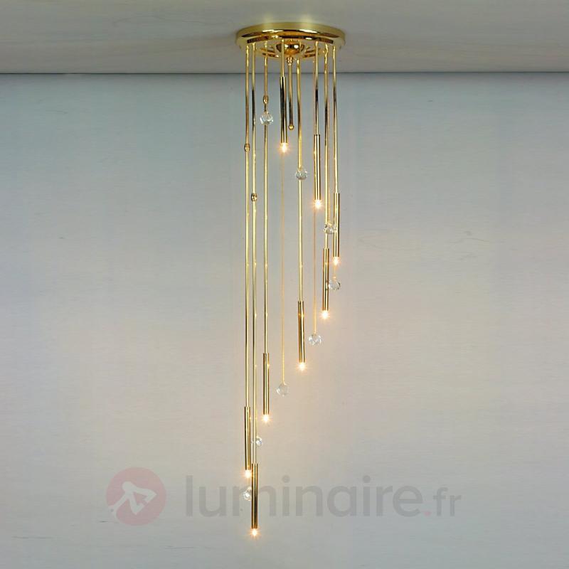 Plafonnier SPIRALE 8 lumières, or - Plafonniers design