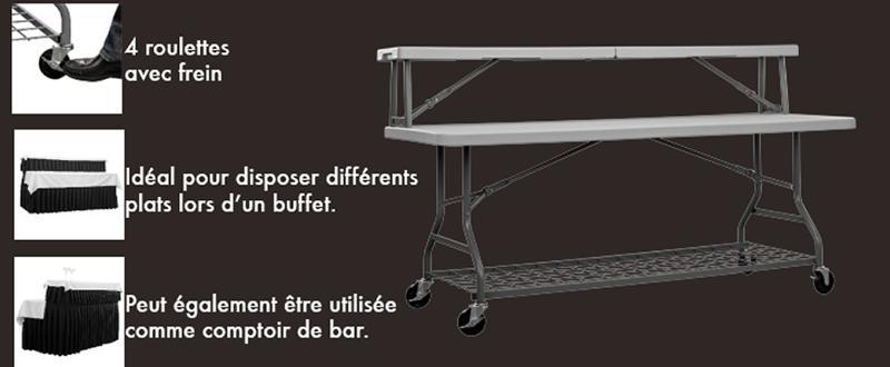 Table pliante Buffet - Mobiliers pliants haut de gamme