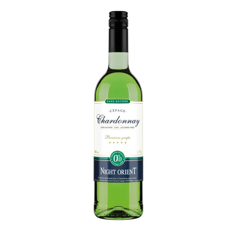 Night Orient Chardonnay - vin tranquille sans alcool cépage Chardonnay