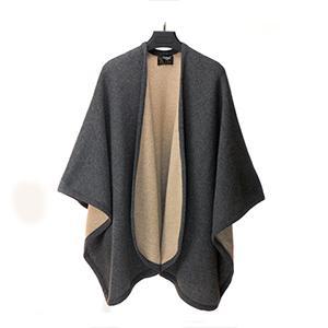 2641 - Mantella misto lana reversibile. MADE IN ITALY