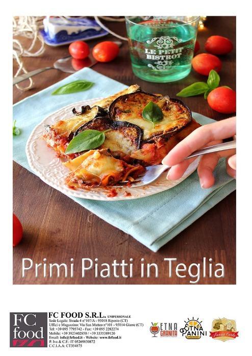 PRIMI PIATTI IN TEGLIA - Produzione Artigianle Primi Piatti in Teglia da kg 3,00  Prodotto Surgelato