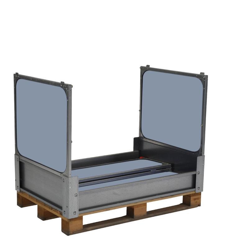 Großbehälter mit Kunststoff Faltwände und 2 Klappfenster - MP Flexbox MPC.e88