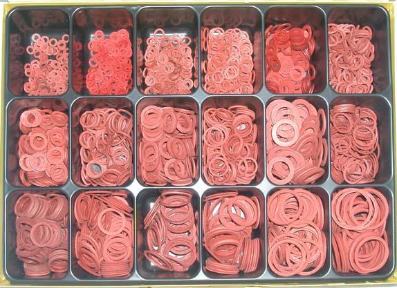 Assortment fibre gaskets 4-30 mm - Assortments